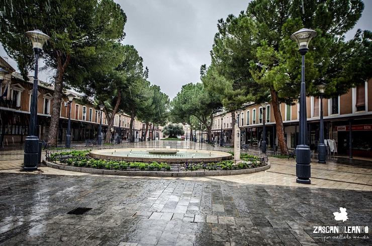 Plaza de España de Daimiel, en la provincia de Ciudad Real