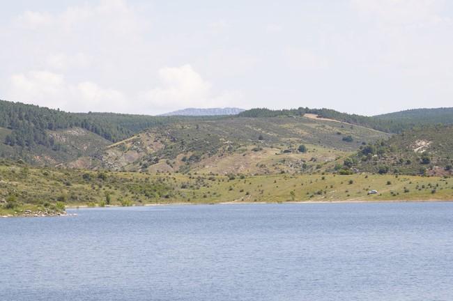 Embalse de Pálmaces de Jadraque, en la serranía de Guadalajara