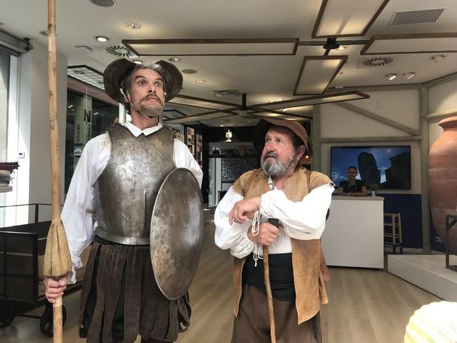 Los conocidos personajes de Cervantes se dejaron caer por la oficina
