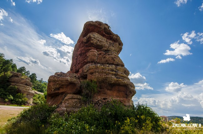 Lo más característico de estas rocas es su color rojizo