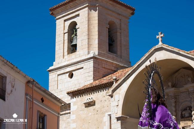 La iglesia de Nuestra Señora de la Asunción se vistió de gala para recibir la imagen