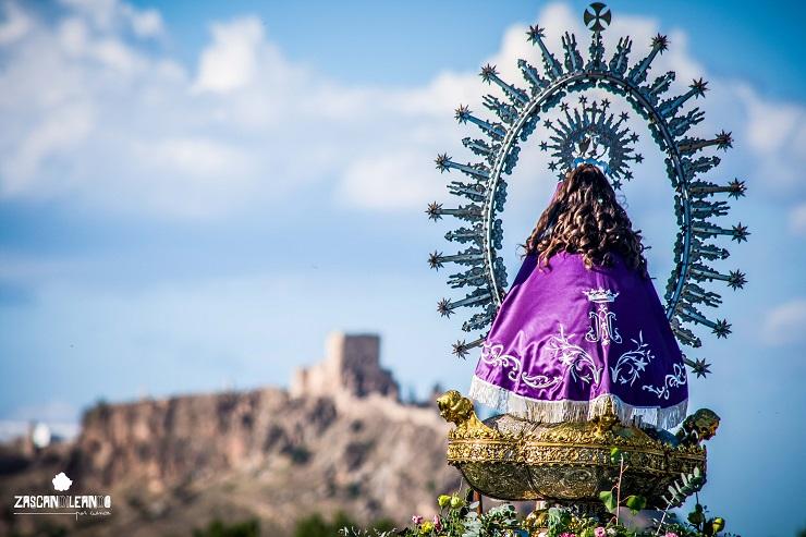 La Virgen de Tejeda camino de la villa de Moya