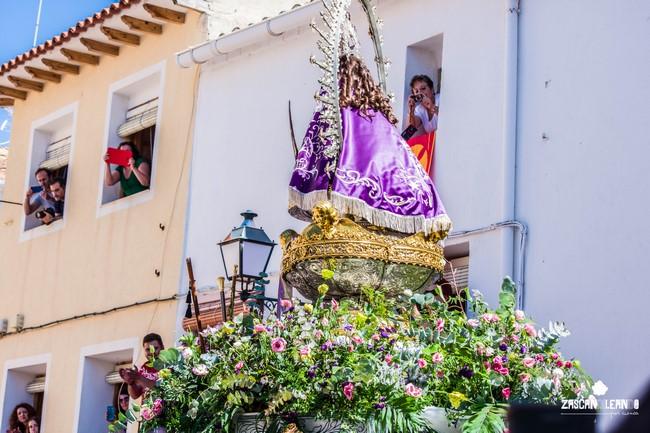 El pueblo de Landete recibió con honores a la Virgen de Tejeda en el Septenario