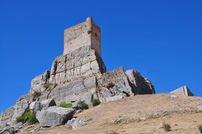 Restos del Castillo de Atienza, en Guadalajara