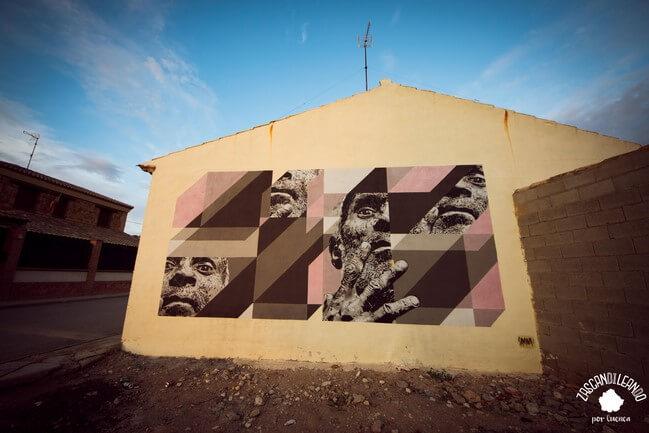 El arte urbano puebla la localidad de Las Mesas