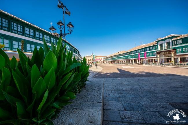 Las galerías y soportales de la plaza Mayor de Almagro son una maravilla