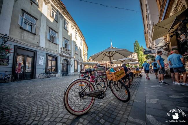 Las bicicletas son el medio de transporte más común en Liubliana