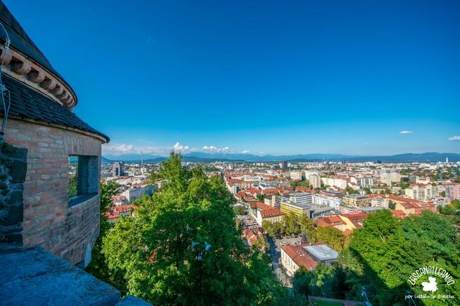 Panorámica desde el castillo de Liubliana, capital de Eslovenia