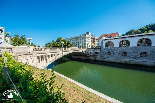 El río Liublianica es el más importante de la capital de Eslovenia