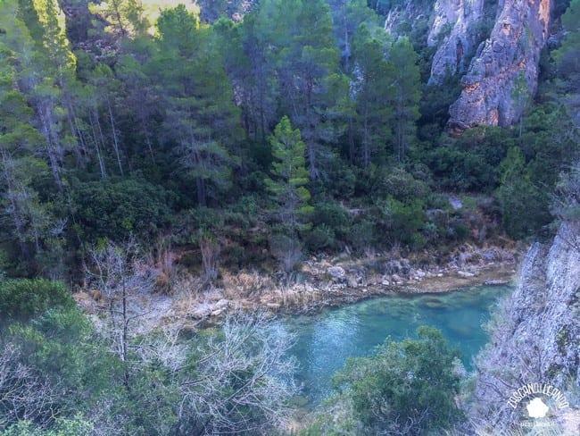 El río Cabriel a su paso por los Cuchillos del Cabriel