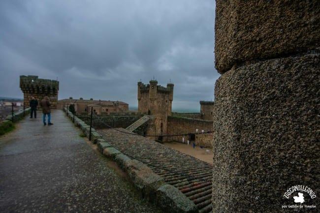 Día desapacible visto desde el castillo