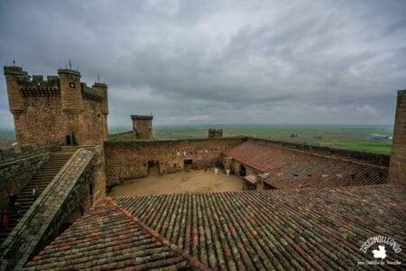 Vistas desde las alturas en el castillo de Oropesa, Toledo