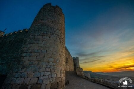 Anochecer desde el castillo del Cid, en Jadraque