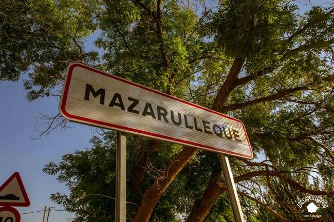 Señal de entrada al pueblo de Mazarulleque, perteneciente al municipio de El Valle de Altomira