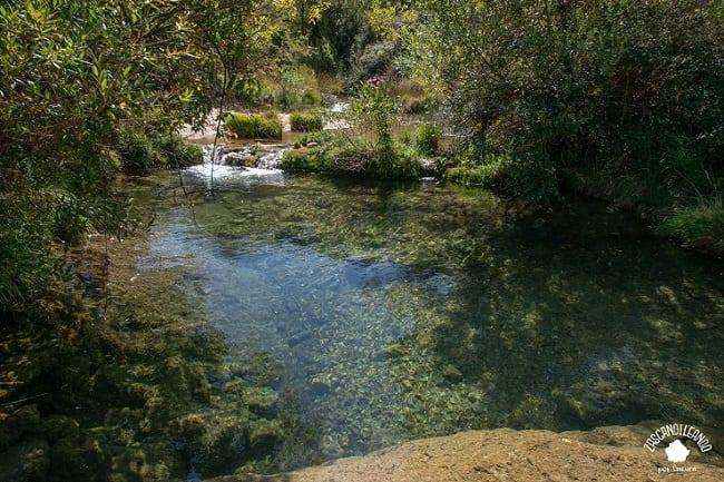 Son zonas amplias y profundas donde poder bañarse en Palomera