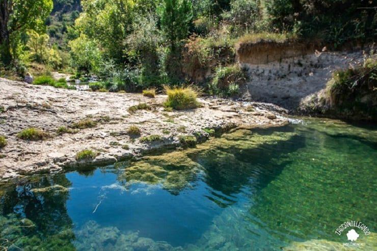 Las pocetas del río Huécar son unas zonas de baño en el pueblo de Palomera