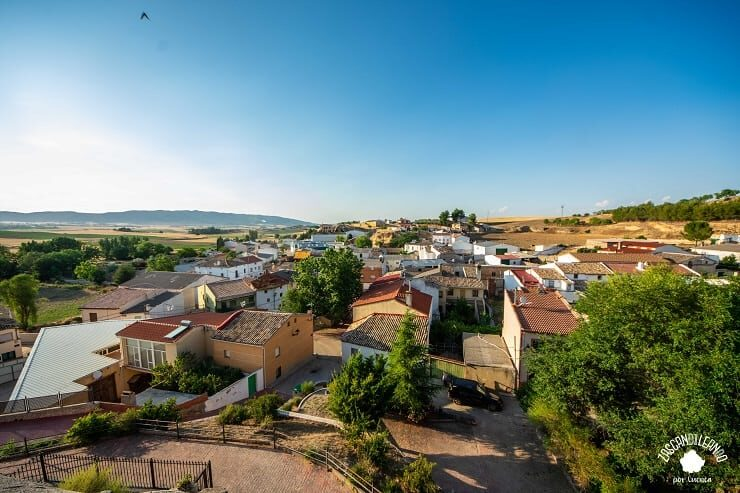Vistas de Mazarulleque desde el cerro del Castillo